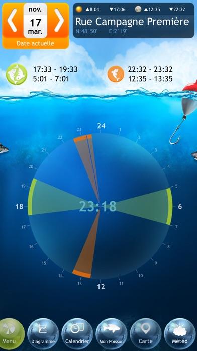 Screenshot #1 pour Pêche Deluxe – Calendrier et Meilleures Heures de Pêche