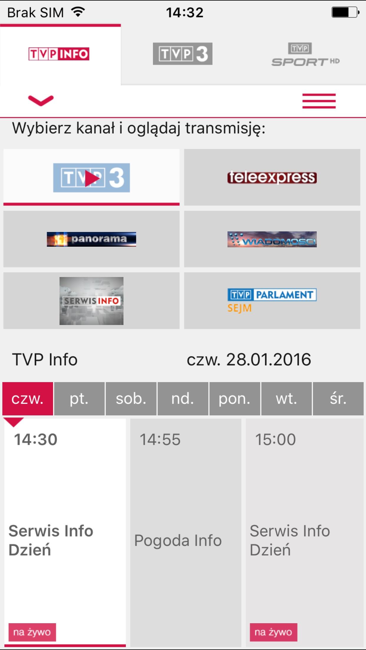 TVP Stream Screenshot