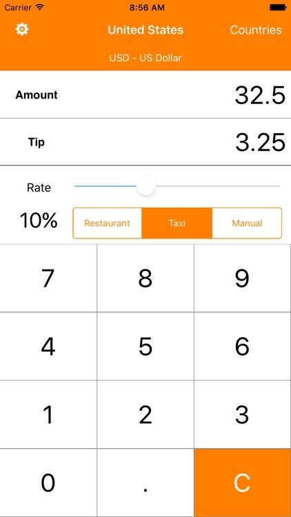 TipCal tip calculator (all offline)