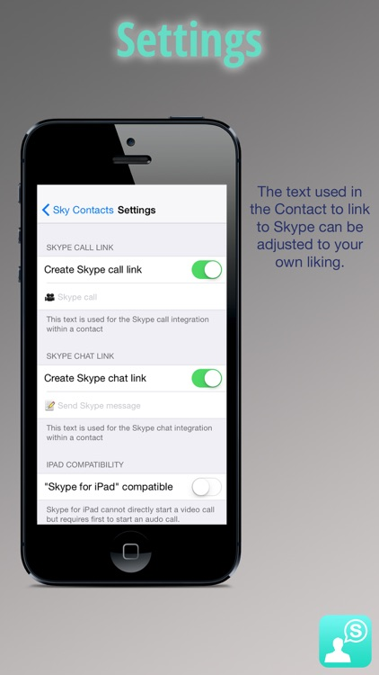 Sky Contacts - Start Skype calls and send Skype messages from your contacts screenshot-4