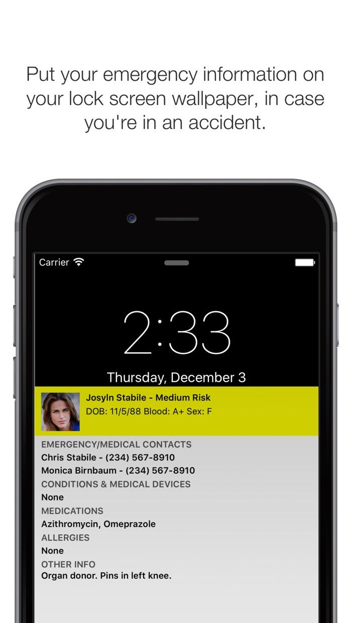 ICE Standard ER 911 - In Case of Emergency Screenshot