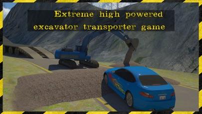 excavadora 3d rescate transportador Simulador estar listo para rescatar a los coches en este juego de alto transportador excavadora potencia extremaCaptura de pantalla de4