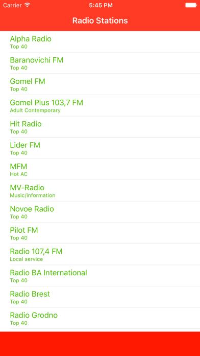 点击获取Radio Belarus FM - Stream and listen to live online music from your favorite Byelorussian радыё station and channel with the best audio player