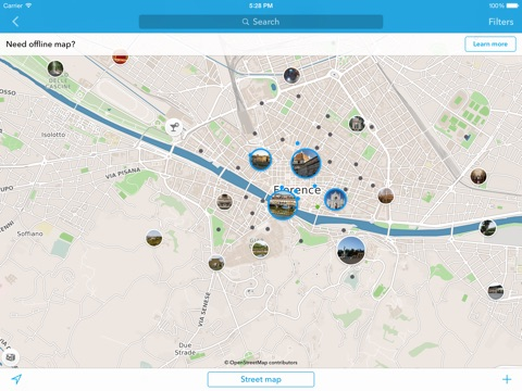 Florence trip planner travel guide offline city map app price drops map screenshot 2 for florence trip planner travel guide offline city gumiabroncs Image collections