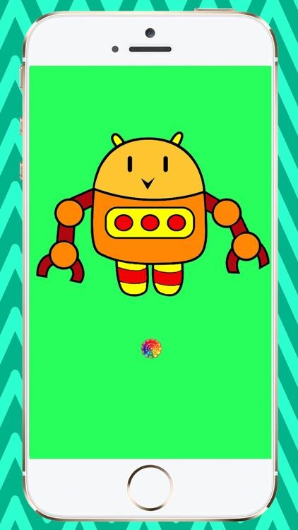 Coloring Book Robots screenshot-4