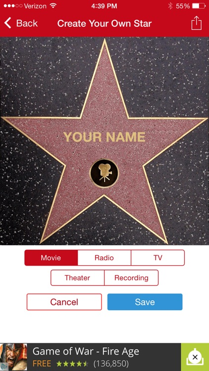Hollywood Walk of Fame   Stars Map and Star Creator by Digital
