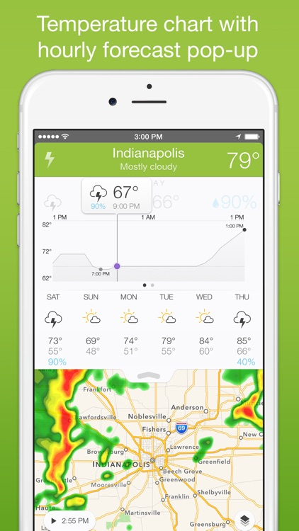 Perfect Weather - NOAA Radar, Forecast, and Severe Weather Alerts screenshot-3