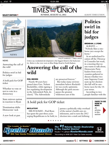 Albany Times Union for iPad iPad