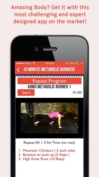 Fitgirl Metabolic Burners : 50, 15 minute weight loss workout for ladies screenshot-4