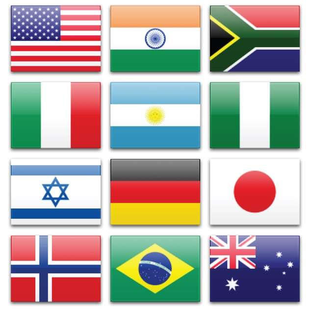 Flags of the World: Sort by Continent