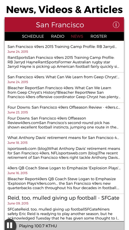 San Francisco Football Radio & Live Scores screenshot-4