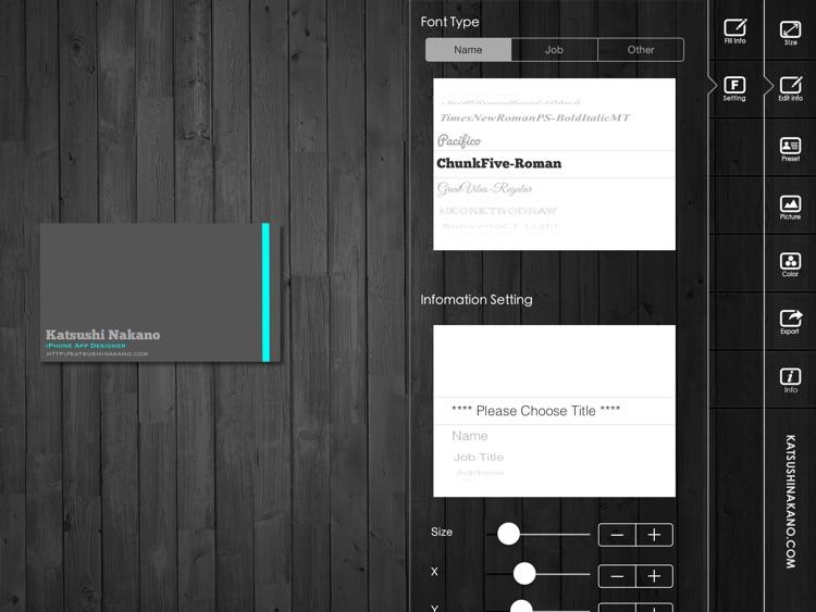 BusinessCardDesignerHD - Business Card Maker with AirPrint