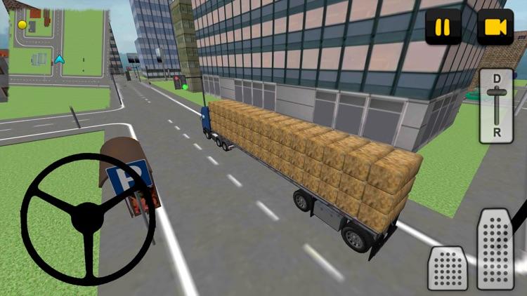 Hay Truck 3D: City screenshot-3