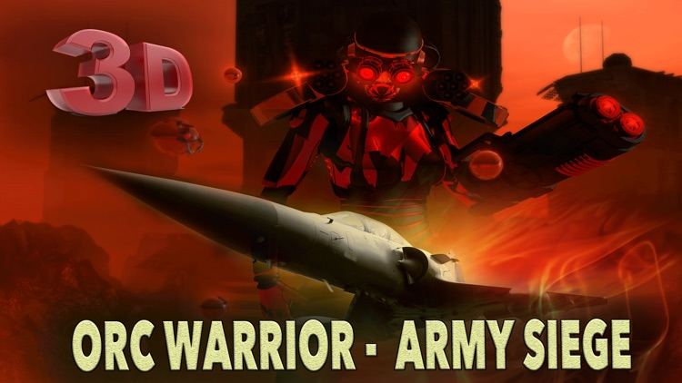 Orc Warrior Army Siege 3D - f22 raptor air to air strategy battle screenshot-0