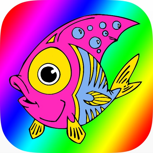 Sea Animals Coloring Book for Kids iOS App
