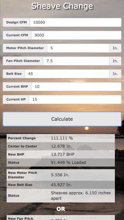 Test & Balance / Commisioning Calculator