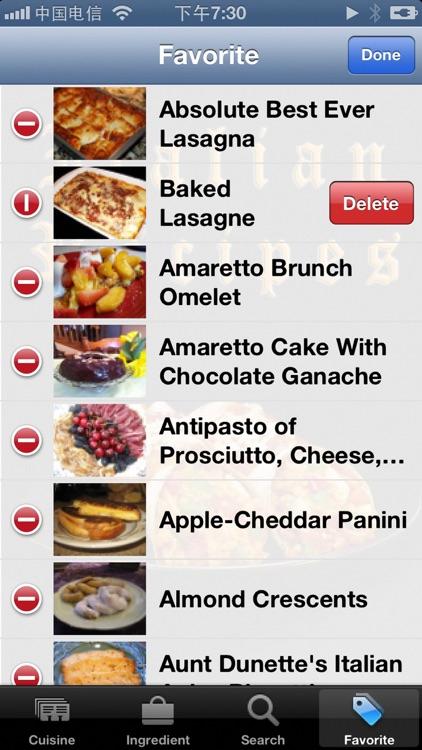 10000+ Italian Recipes screenshot-3
