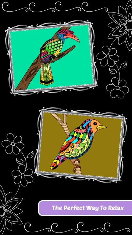 Love Birds Art Class: Adults Coloring Book screenshot-4