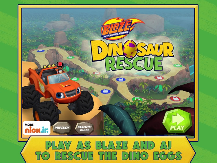 Blaze and the Monster Machines Dinosaur Rescue HD screenshot-0