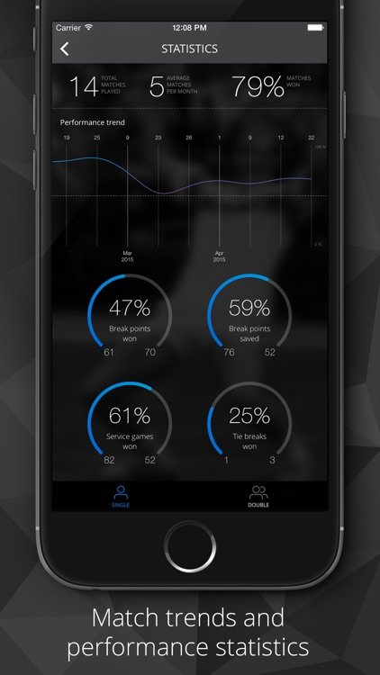 Tennis Watch - Tennis score tracker and statistics for Apple Watch and iPhone screenshot-3