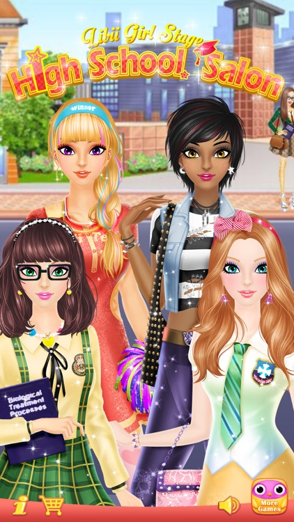 High School Salon - Girls Makeup, Dressup and Makeover Games