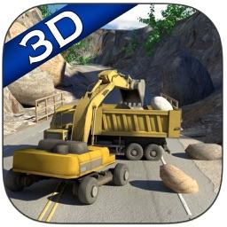 Landslide Rescue Op Excavator - Rockfall Salvage Digger