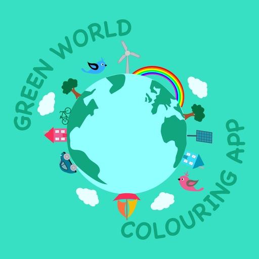 Green World Colouring App