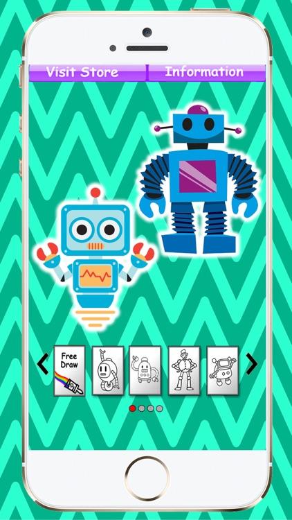 Coloring Book Robots