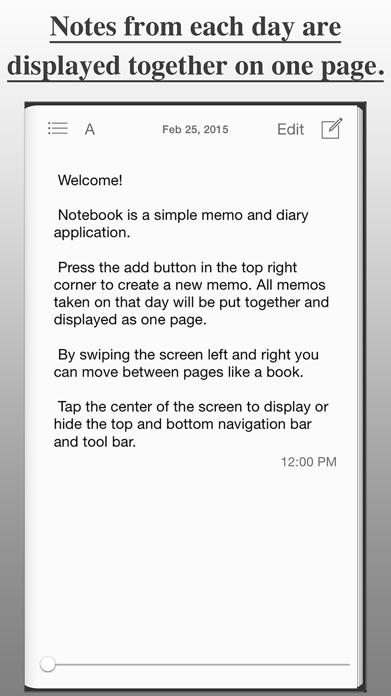 Notebook Free - Diary, Journal App Screenshot