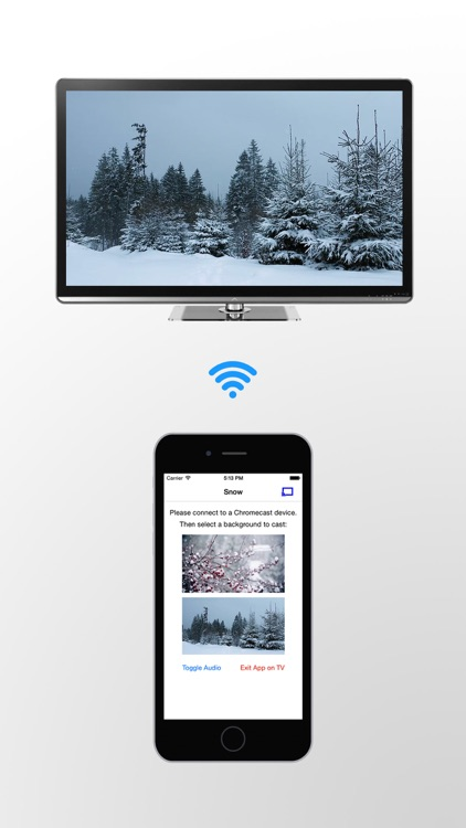 Snowfall on TV for Chromecast