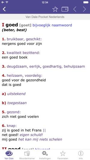 b0767de7b0  Dutch Dictionary - Van Dale Pocket dictionary  define