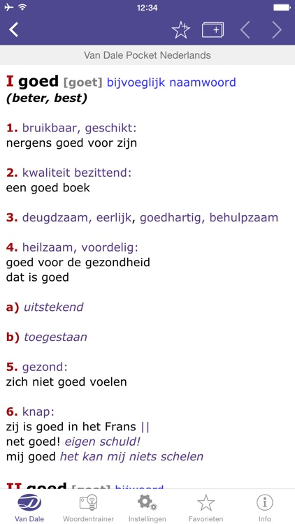 Dutch Dictionary - Van Dale Pocket dictionary: define, spell and use Dutch words correctly screenshot-3