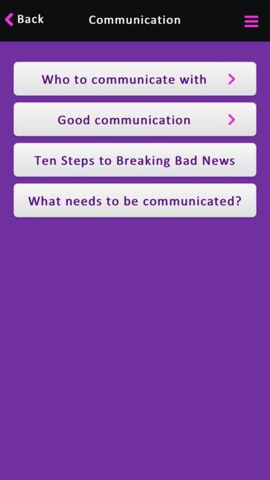Priorities of Care screenshot four