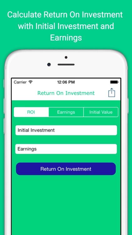 Return On Investment Calculator