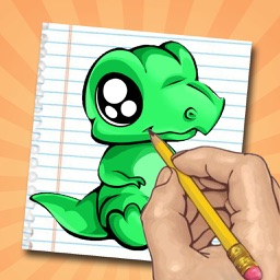 How to Draw Dinosaurs : Drawing Lessons and Coloring pages