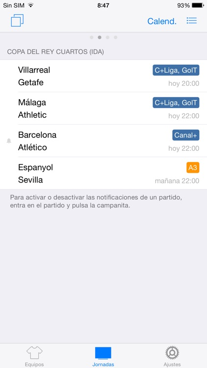 Goles Messenger - Instant live scores and football alerts screenshot-3
