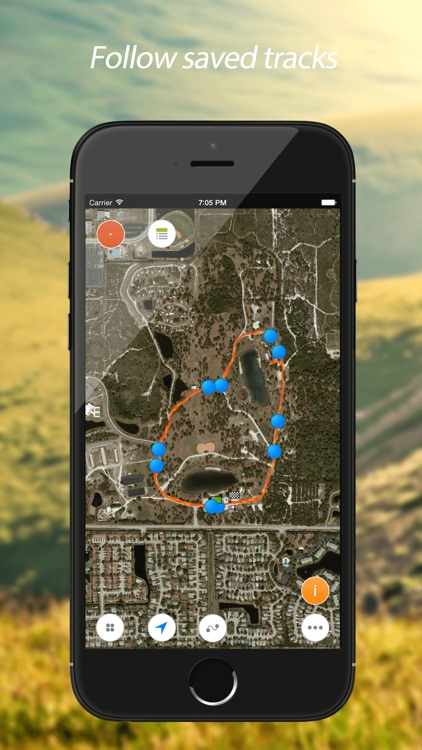 Track Kit Pro - GPS Tracker with offline maps, Compass, Speedometer, Rangefinder and Theodolite screenshot-3