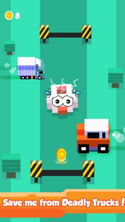 Blocky Duck Crosses the Highway – Endless Tiny Bird Escape screenshot-3