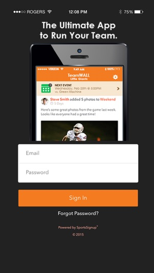 teamwall team sports management on the app store