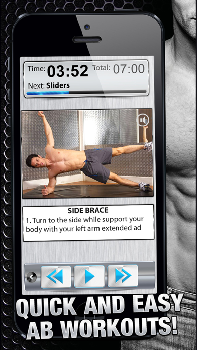 Ab Workout X PRO - Six-Pack Core Exercises & Abdomen Trainer-0