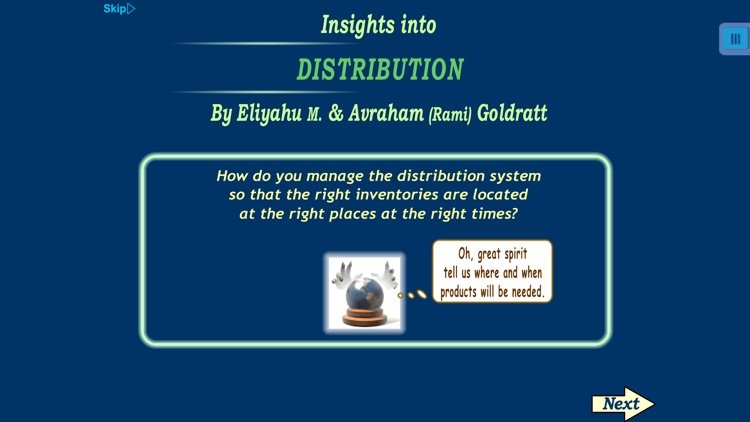 TOC Insights into Distribution and Supply Chain: the Theory of Constraints solution by Eliyahu M. Goldratt.