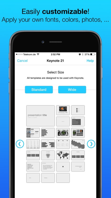 Templates for Keynote (for iPad, iPhone, iPod touch) screenshot-3