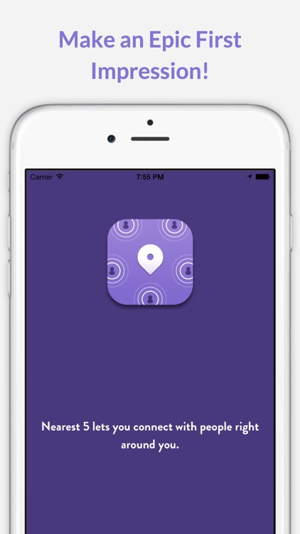 Nearest5 - Share messages and photos with five people nearby & make an epic first impression