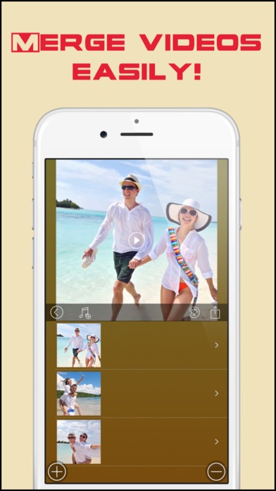 Video Merger and Movie Maker Pro with Text & Music screenshot one