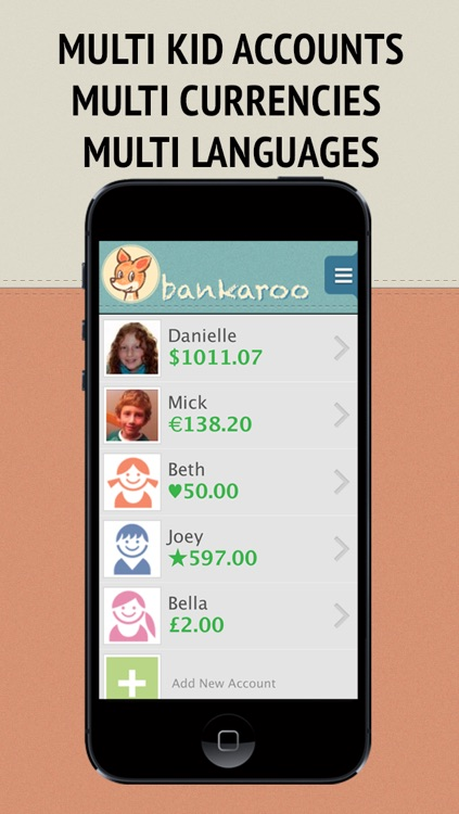 bankaroo - virtual bank for kids