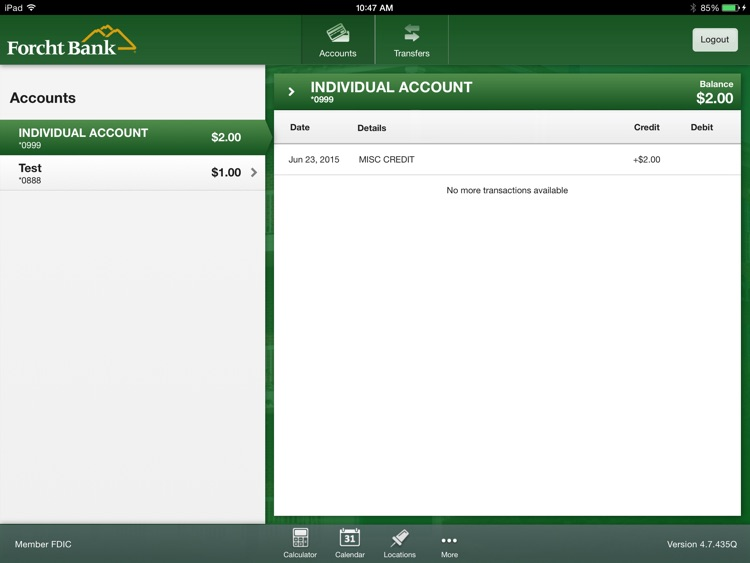 Forcht Bank Mobile Banking for iPad screenshot-2