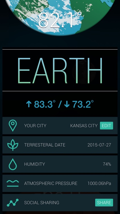 Sol - The World's First Interplanetary Weather App screenshot-3