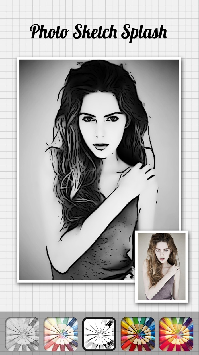 Photo Sketch Splash - My Pencil Drawing with Portrait Filter Effects Screenshot