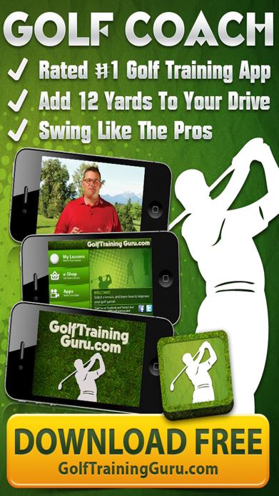 Golf Swing Coach HD FREE - Tips to improve putting, drive, tee-off, time Screenshot