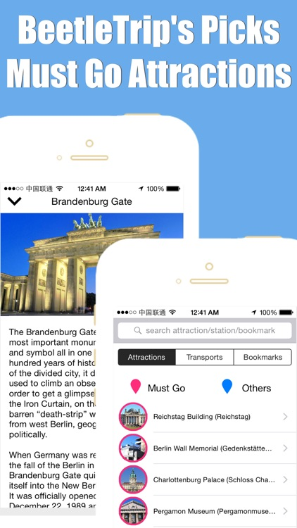 Berlin travel guide and offline city map, Beetletrip Augmented Reality Germany bahn Metro Train and Walks